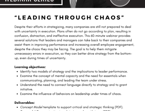 "New webinar! ""Leading Through Chaos"""